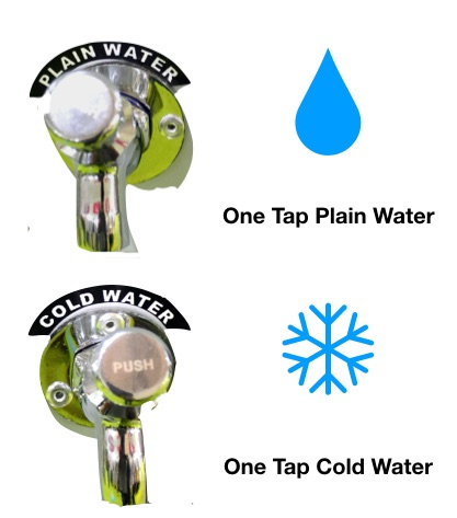 Plain and cold water cooler